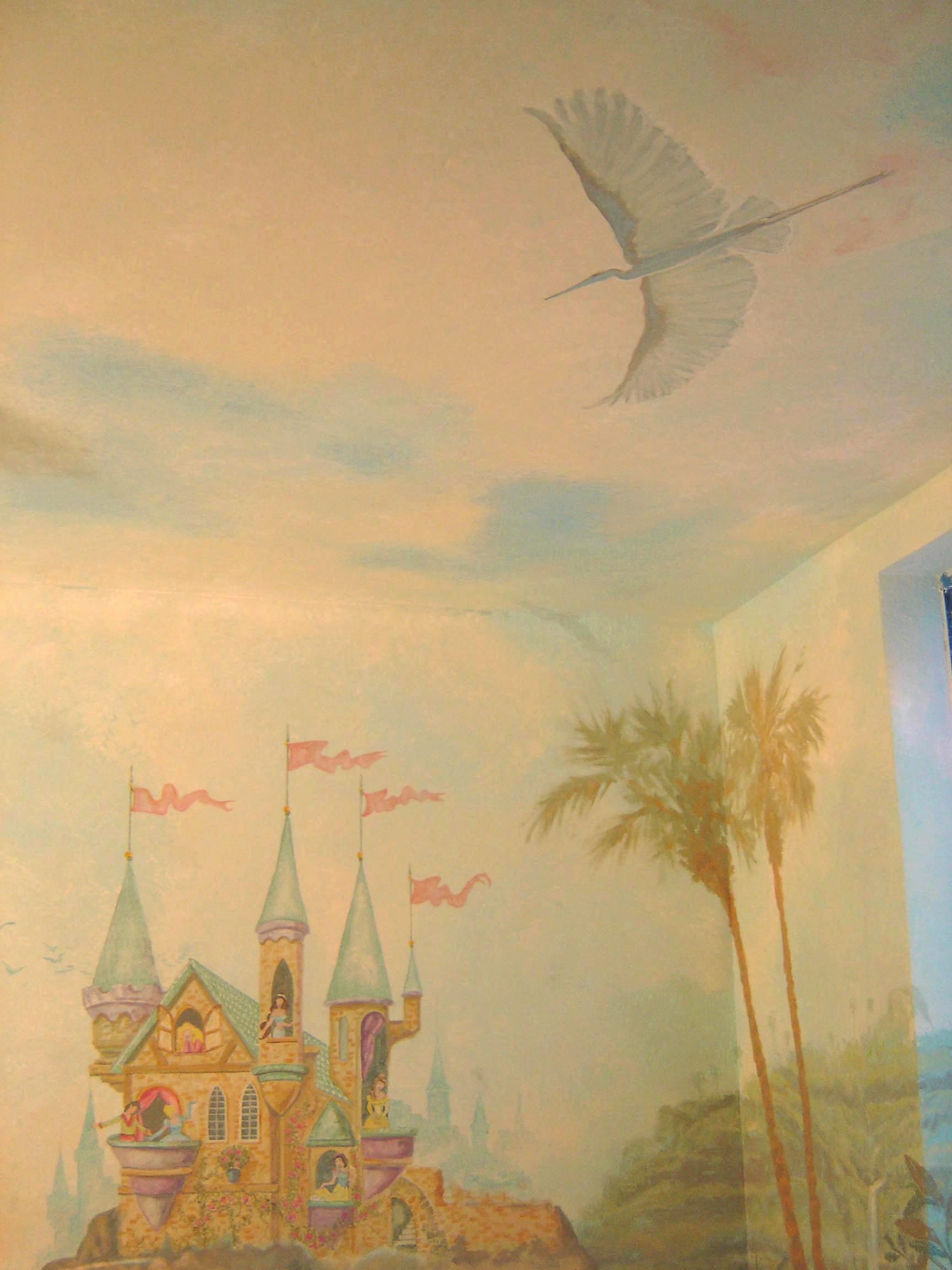 Kids Castle and Ocean Mural