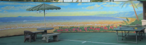 Commercial Public Murals ICU OCEAN SCENE right side mural by Rik Erickson in San Diego, California