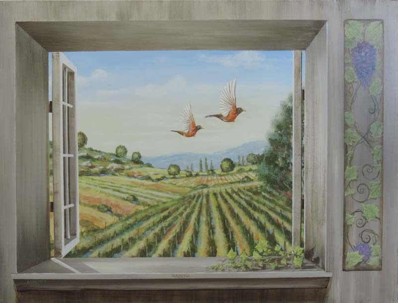 Julian trick the eye window scene by Rik Erickson in San Diego, California