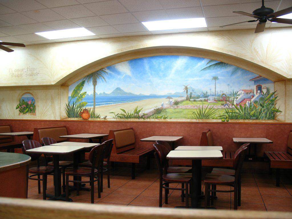 Cabo Mural for Mexican restaurant in San Diego Hillcrest