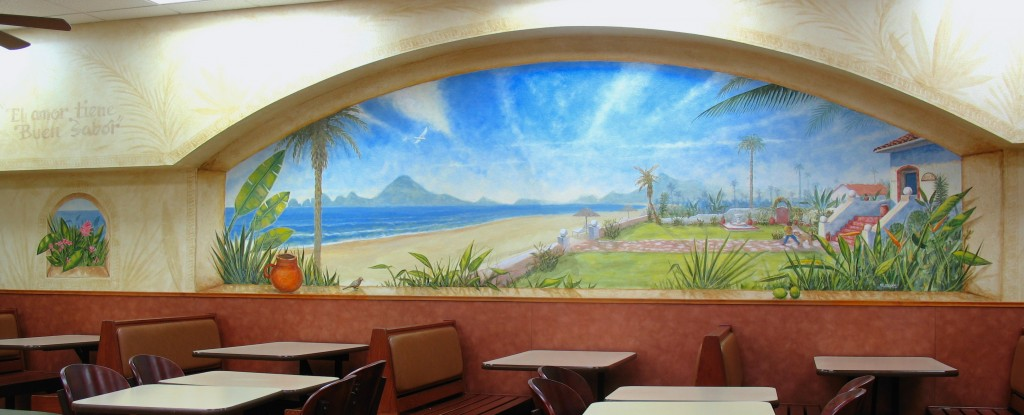 Cabo mural for Lalo's Mexican Grill in San Diego, California by Murals Fantastic