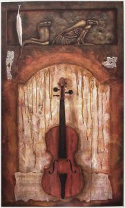 The Red Violin painting by Rik Erickson in San Diego, Califonia
