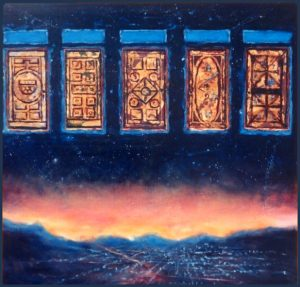 Five Doors painting by Rik Erickson in San Diego, Califonia