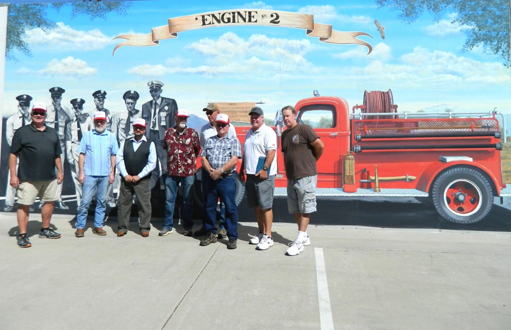 "Historic Firehouse Mural for Ramona, California titled ""Engine #2"""