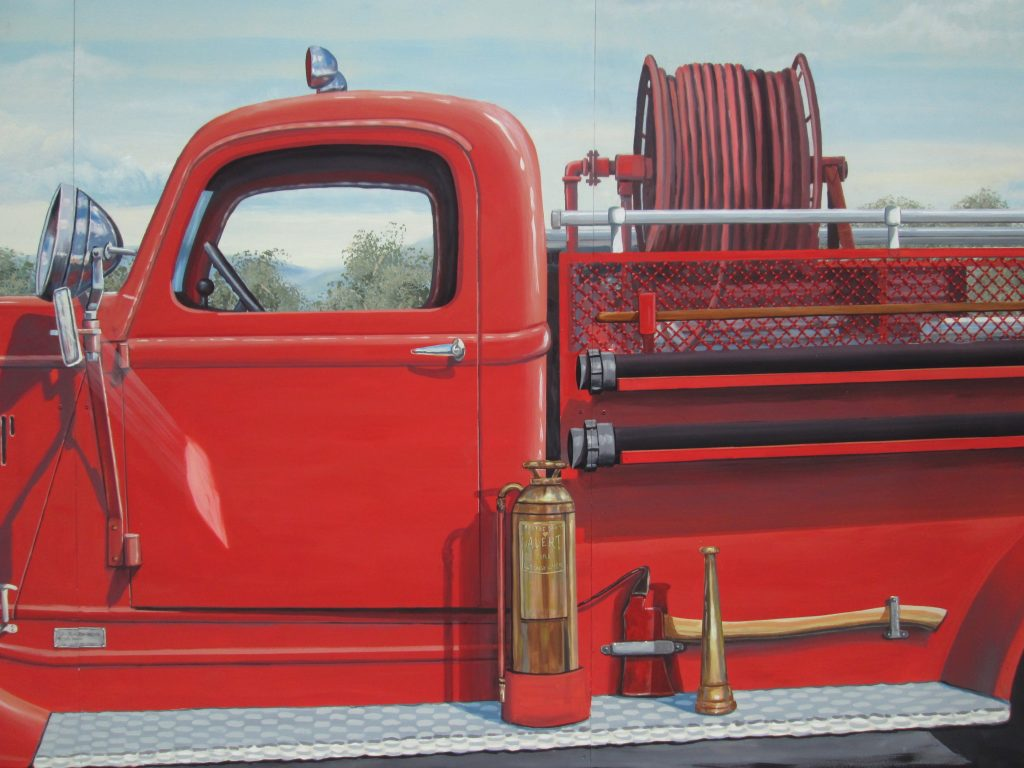 Firehouse Mural Close up Rik Erickson San Diego