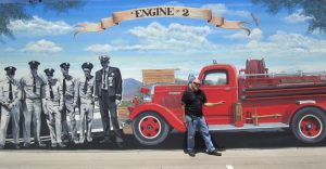 Firehouse Mural in Ramona by Rik Erickson San Diego, California