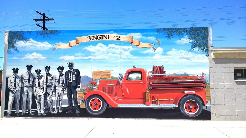 """Engine # 2"" Historic Fire Engine Mural for City Of Ramona, California"