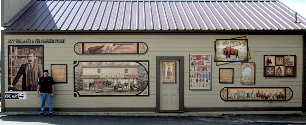 The Pioneer Store Mural in Ramona, CA.