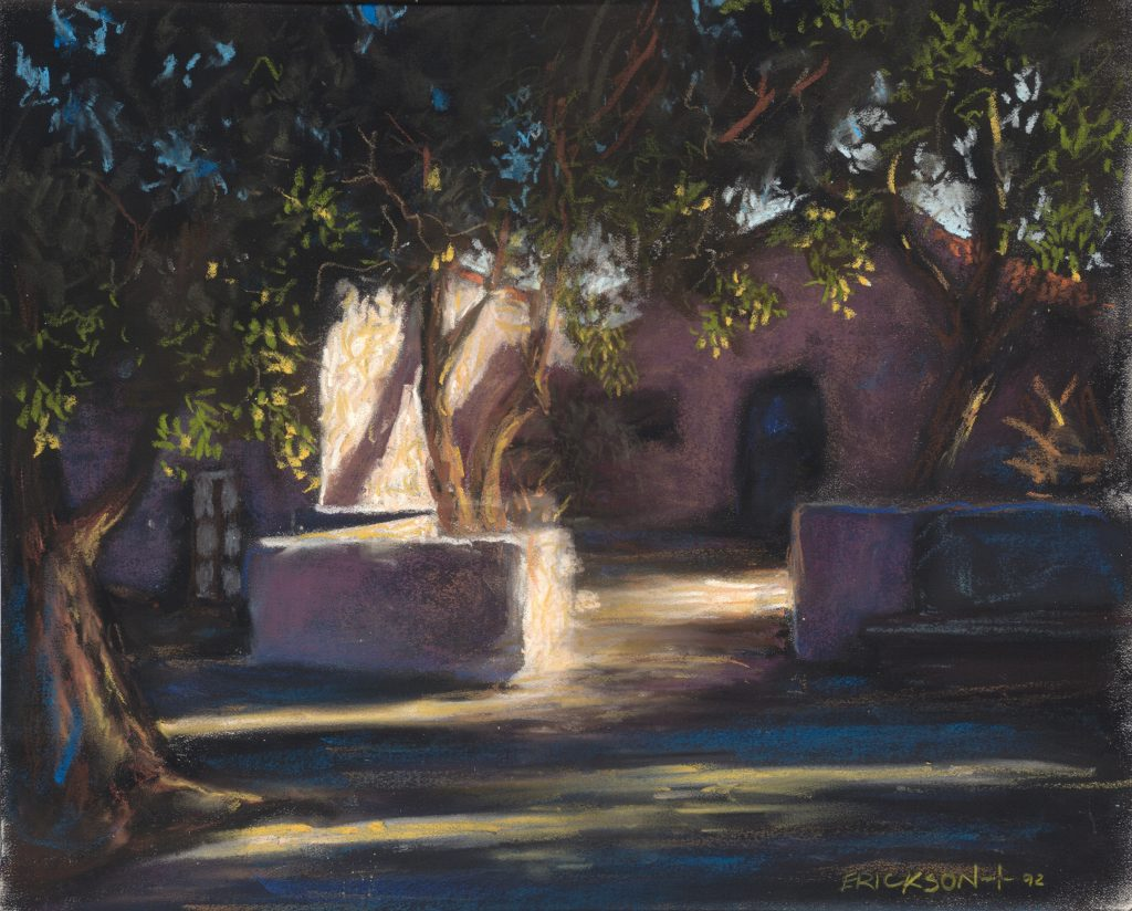 """Light Shadow"" pastel 11"" x 13"" by San Diego artist Rik Erickson"