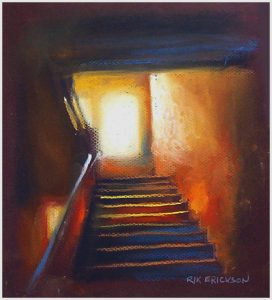 """Light Upstairs"" pastel 10"" x 8"""