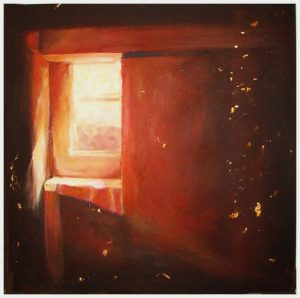 """Open Window"" mixed media on canvas 36"" x 36"" painting by San Diego artist Rik Erickson"