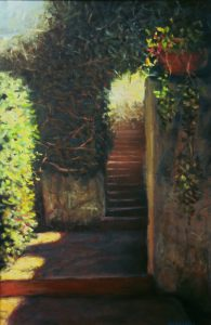 """Steps to the Garden"" oil 36"" x 24"""