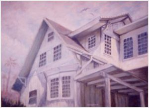 """White House"" acrylic on canvas"