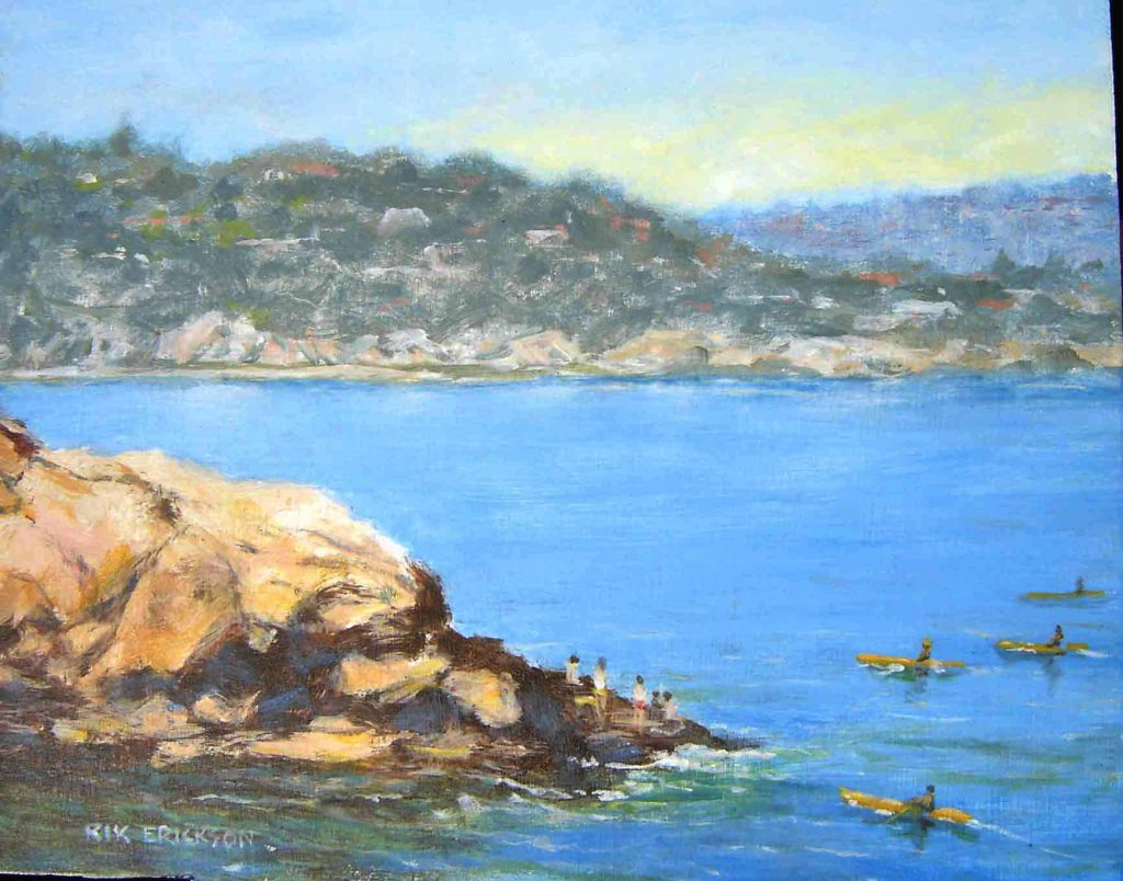Kayakers artwork mural San Diego