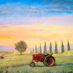 Farmlands Panorama with Tractor