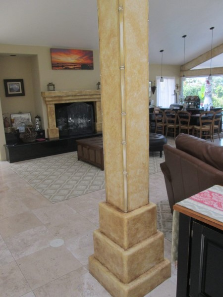 Faux Stone with Bamboo Edges