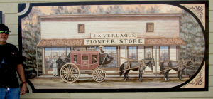 Stage Stop Mural historic painting for Ramona, California mural series