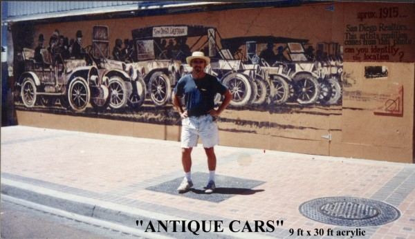 Antique Cars Mural