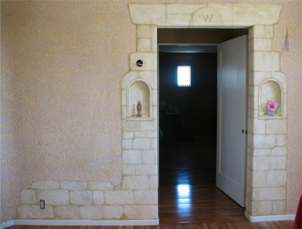 Faux Stone with Trompe L'oeil Cutouts