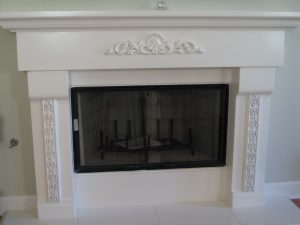 Before Faux Marble Fireplace San Diego