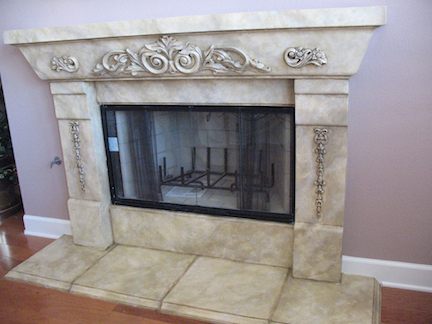 Faux Marble Fireplace in San Diego