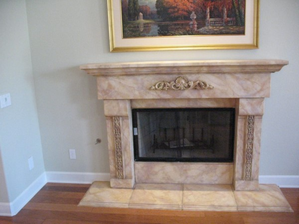 Faux Marble Fireplace San Diego
