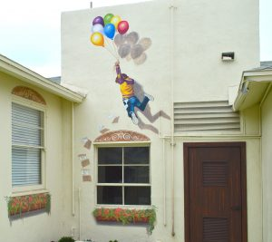 Balloon Boy mural