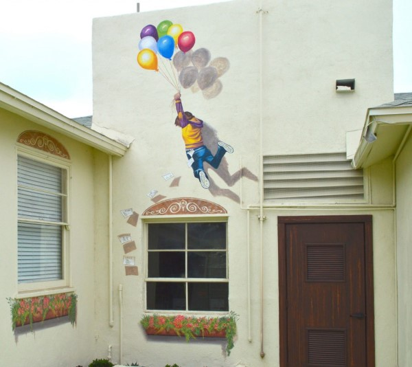 """Balloon Boy"" mural"
