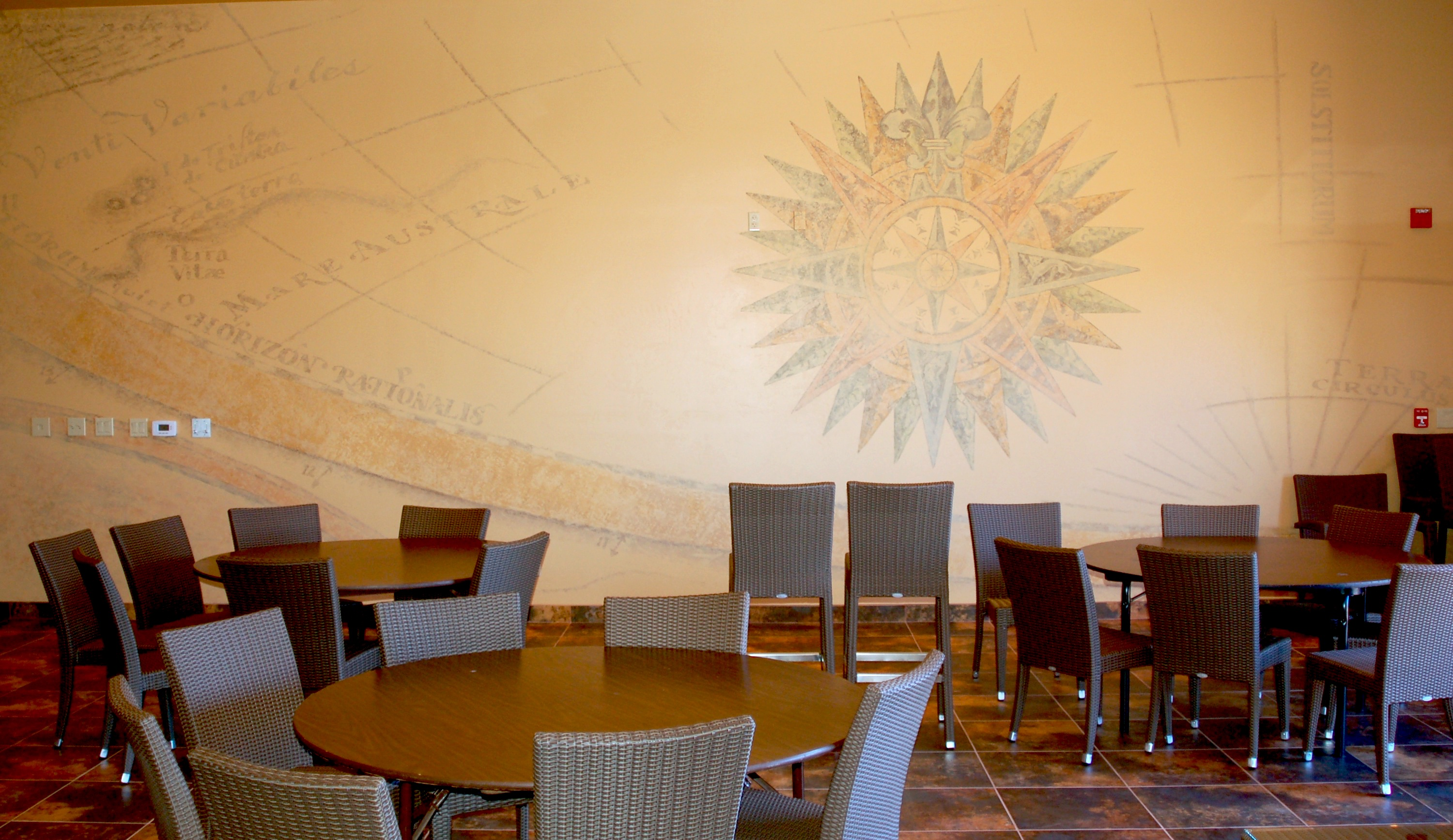 ... Furniture Store Camp Pendleton #39   Compass And Map Mural For Navy  Chiefs Room ...