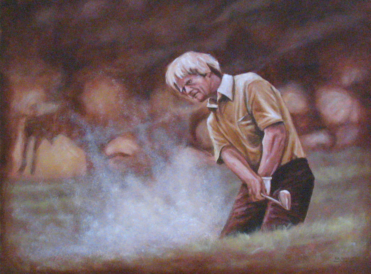 Nicklaus Painting at Marine Memorial Golf Course