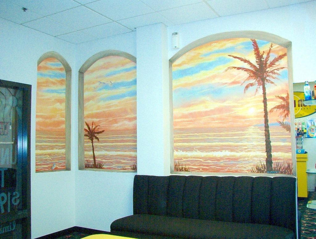Tropical Sunset mural