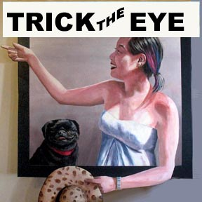 trompe l'oeil trick the eye 3 D realistic looking