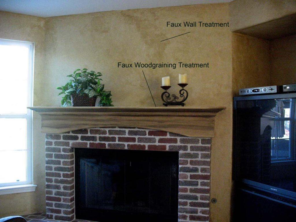 Wall & Fireplace Wall glaze