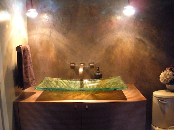 Venetian Plaster Wall Treatment