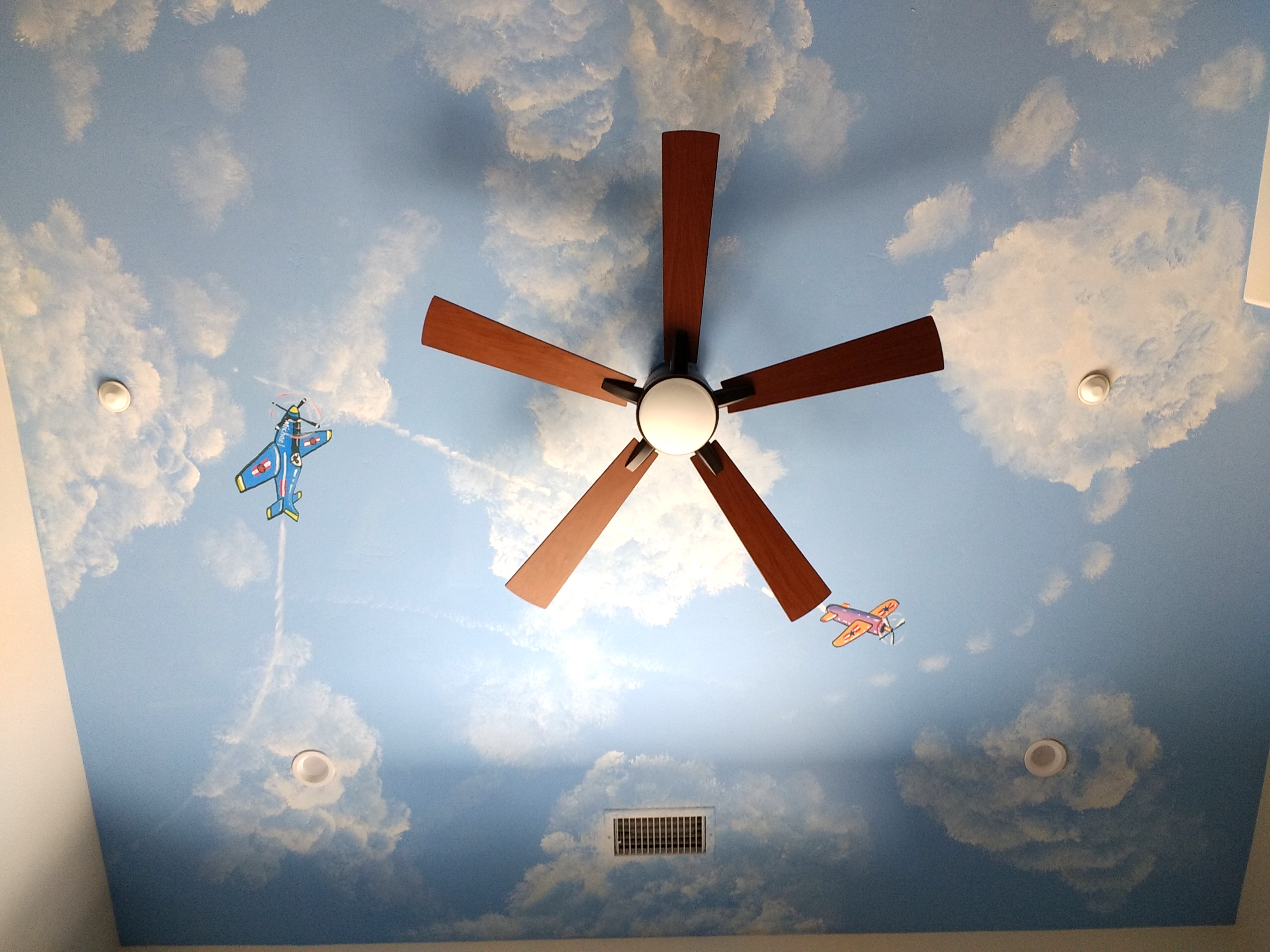 Boys Room Ceiling mural