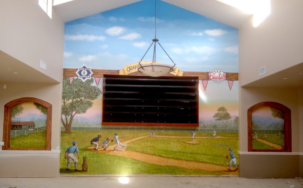 Little League Game San Diego mural