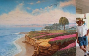 LA Jolla Cove mural with Rik
