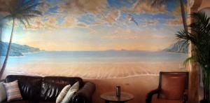 Beach mural for private home