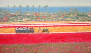 Carlsbad Flower Fields mural close 2