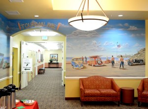 Tourmaline Surf Park Mural by San Diego Murals Fantastic for Eldercare Facility