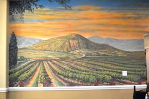 Wine Country mural close