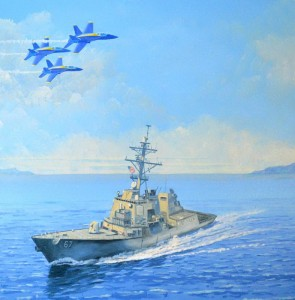 Blue Angels Over USS Cole close 1