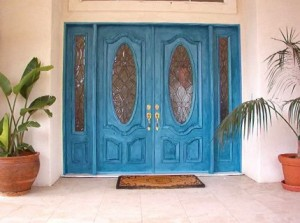 Blue Colorwash doors