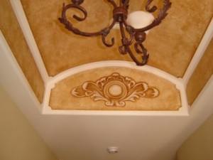 Cove Ceiling Accents and Sepia Faux