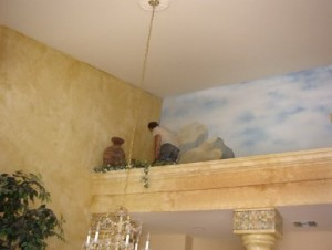 FAUX walls and mural