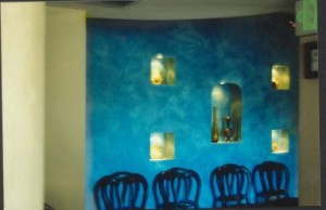 Fresco over blue walls 2