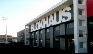 Blokhaus wall sign
