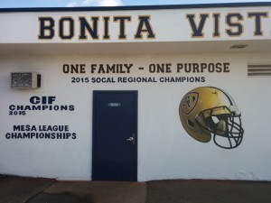 Bonita Vista Football Wall Lettering