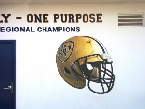 Helmet on Bonita Vista Football Wall Lettering