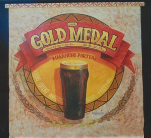 Gold Medal Beer canvas sign art